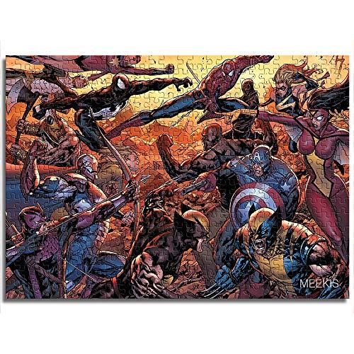 Puzzle Impreso 1000 Piezas Iron Man película Personaje Juego de Rompecabezas Cerebro Tiempo Libre 26x38
