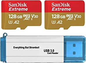 SanDisk 128GB Micro SDXC Extreme Memory Card (Two Pack) Works with GoPro Hero 7 Black, Silver, Hero7 White UHS-1 U3 A2 Bun...
