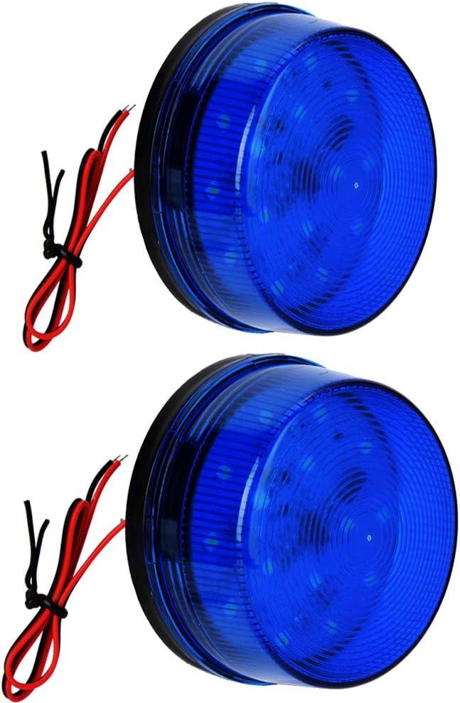 Blue Strobe Beacon Special Japan Maker New price Light Lelukee 24V Rainproof DC 2pcs 12V