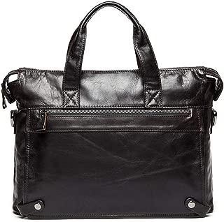 Mens Bag 14-inch Laptop Shoulder Bag Vintage Leather Briefcase for Men Tote Business Messenger Bag High capacity