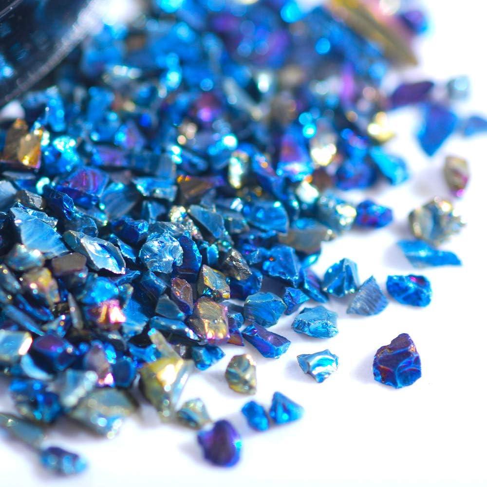 Hisenlee 200 Gram Crushed Glass Sequins supreme Irregular Deluxe Chunky Stone I