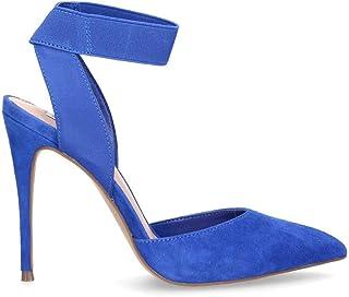 Steve Madden Women's SDIONBLUE Blue Suede Heels