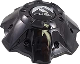 Fuel Wheels Black Gloss Center Cap with Black Rivets Set of Two (2) # 1001-63GBR with Bolts!