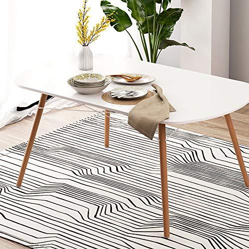 KaminHome - Mesa Comedor Betty salón Cocina Pata Madera Rectangular Ovalado diseño Estilo nórdico escandinavo Moderno Minimalista 120 cm