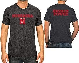 Elite Fan Shop NCAA Men's Front/Back Dark Heather Tshirt