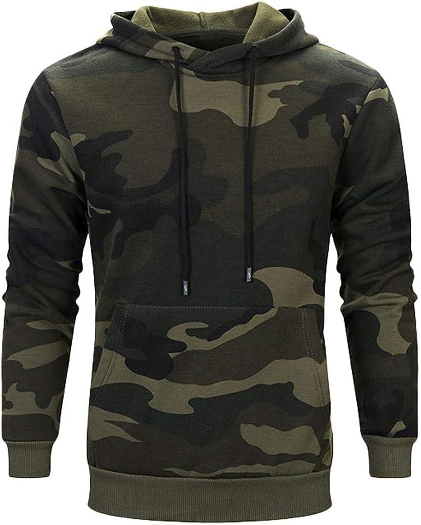 Fastbot Men's Hooded Sweatshirt Hoodie Camouflage Kangaroo Pocket Casual Pullover Outwear Autumn Winter Coat Jacket