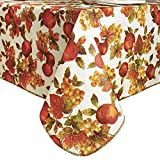 Vinyl Rectangle Flannel Backed Tablecloth Waterproof Oil-Proof Wipeable,Heavy Duty Vinyl Tablecloth...