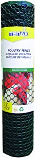 Tenax 72120942 Plastic Poultry Fence, Green