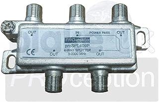 PROception1 UK 4-Way Splitter, Power Pass 1 Port
