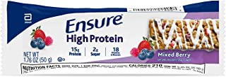 Ensure High Protein Bars, 20 Bars, On-the-Go Nutrition, 15g Protein Supports Muscles, 1-2g Sugar, B Vitamins for Protein &...