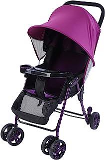 Universal solspegel för barnvagn, UV solskydd insektsskydd för baggy, barnsportbil lila