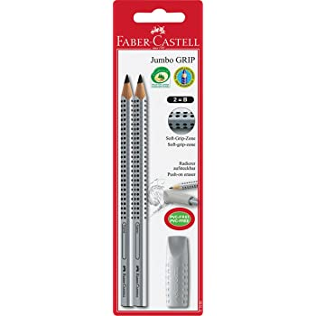 Faber-Castell111900 Crayon graphite Jumbo Grip Triangulaire