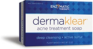 Enzymatic Therapy Derma Klear® Akne Treatment Soap Deep Cleansing Active Sulfur Plant Based, 3 Oz.