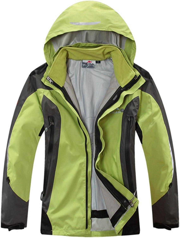CIKRILAN Women's 3in1 Water Resistant Breathable Ladies Outwear Warm Jacket Coat
