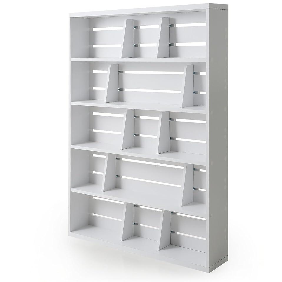 反対する酸度ポケットLOWYA 本棚 マンガ収納 ブックエンド 幅90 上段 単品 ホワイト