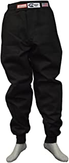 Racerdirect Racing Pants Driving FIRE Suit SFI 3.2A/5 Double Layer Black Size Adult Medium