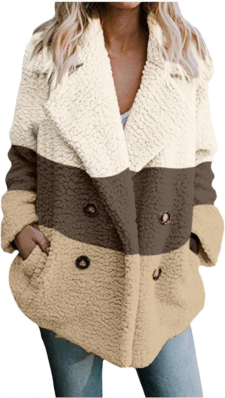 Women's Casual Warm Faux Shearling Coat Jacket Autumn Winter Lon