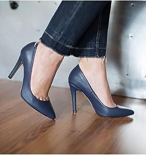 Lacivert Stiletto Topuklu Kadın Ayakkabı