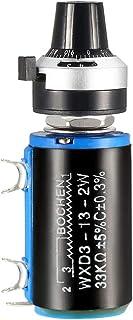 uxcell® 33K Ohm Potentiometer Pots Adjustable Resistors Wire Wound Multi Turn Precision w Scale knob 1pcs