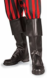 Rubies High Pirate Boot Tops Halloween Costume Adult Size 6 Black