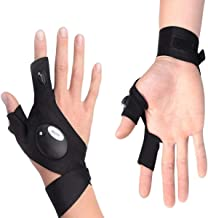 SOONHUA 2LEDs zaklamp handschoenen,Zaklamp riem handschoen voor outdoor nacht vissen 1 paar