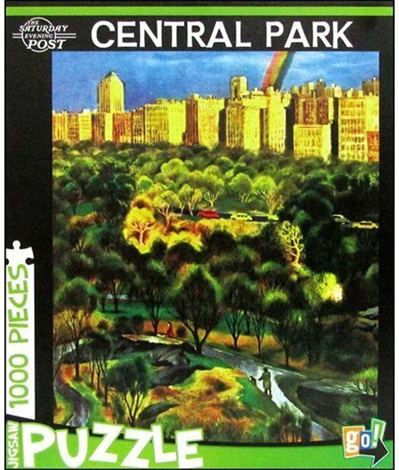Saturday Evening Post Central Park 1000 Piece Puzzle by Go  Games by Go Games