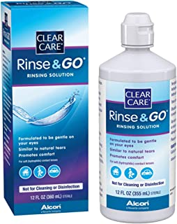 Clear Care Rinse & Go  Solution, 12-Ounces