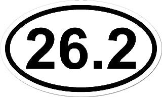 26.2, I Make Decals®, Oval Marathon Run Car Bumper Window Sticker 3 x 5 inch, Euro Oval - Runner, Running, Race, Marathon, Vinyl Sticker Decal