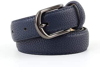 SGJFZD Wild Fashionable Ladies Belt Retro Gun Black Alloy Buckle Stone Pu Belt Women (Color : Navy, Size : 105 * 2.4cm)