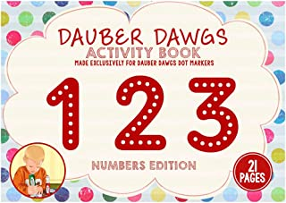 Cameron Frank 123 Edition Dauber Dawgs Toddler's Activity Sheets - 21 Creativity Activity Pages For Kids - Coloring Book M...