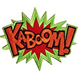 Kaboom - Toppa ricamata da stirare o da cucire, motivo: Batman X Men Comic Word