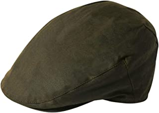 Stetson Adin Waxed Cotton Flat Cap