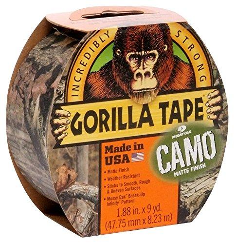 Camo Tape Camouflage, 48 mm breit x 8 m, Produktreihe Gorilla – Gafferband, Bandfarbe mehrfarbig, Bandlänge – Imperial 8 m, Bandlänge – metrisch 8 m, Bandtyp Gaffer/Duct/Tuch, Bandbreite