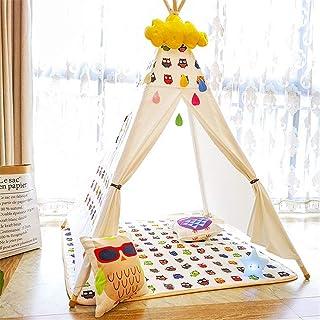 HO-TBO lektält, rumsdekoration barn tipi lektält med matt Indoor Outdoor indiska tält småbarn pojkar flickor lekhus bomull...