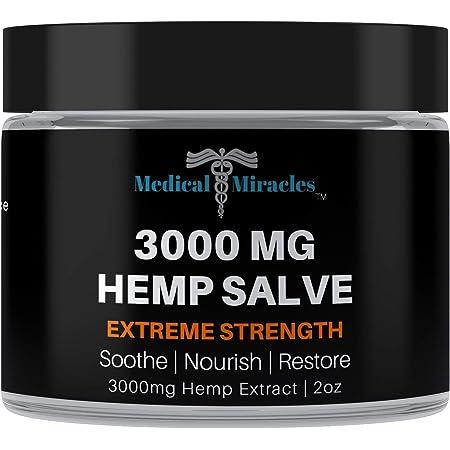 Medical Miracles Hemp 3000 Mg Extreme Strength Healing Salve | 100% Natural - Made in USA