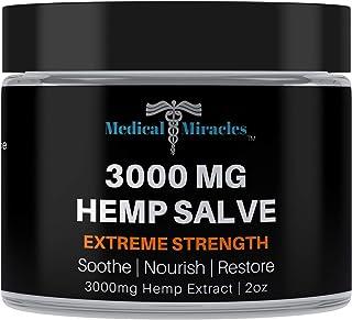 Medical Miracles Hemp 3000 Mg Extreme Strength Healing Salve | 100% Natural Cream Relieves Inflammation, Mu...