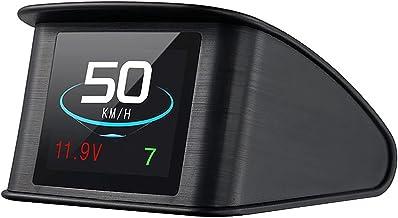 Lttrbx. T600 Universal Car HUD Head Up Display Digital GPS Speedometer with Speedup Test Brake Test Overspeed Alarm TFT LC...