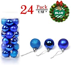 Aizhiweng Christmas Balls Ornaments for Xmas Tree - Shatterproof Christmas Tree Decorations Large Hanging Ball Blue 1.18