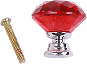 GAXQFEI deurklink keuken deurgrepen 31mm diamant vorm ontwerp kristal glas knoppen kast lade trek keuken kast deur kast ka...