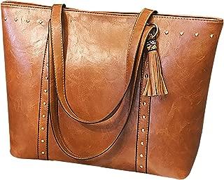 Bageek Womens Tote Bag Shoulder Bag Vintage Tassel Large Capacity Tote Handbag