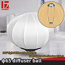 JINBEI Softbox 26 in/65 Centimeters Globe - Collapsible Quick Ball Lantern Soft Box with Bowens for Speedlite Studio Strobe Flash Light Portrait Photo