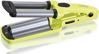 BaByliss H120E - Moldeador de viaje con recubrimiento cerámico, hasta 200° C, voltaje universal 120/240 V, color amarillo