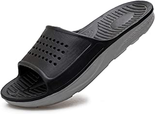 EASYANT Men Shower Pool Sandals Fast Dry Anti Slip EVA Soft Slippers Shoes