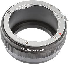 FOTGA for Pentax K PK Mount Lens EOS EF-M M10 M100 Mirrorless Camera Adapter Ring
