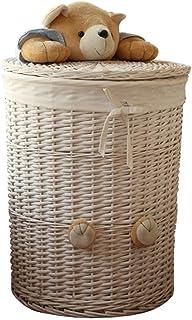 Panier de rangement Paniers de stockage en osier faits à la main, paniers décoratifs à la maison décoratifs de paniers déc...