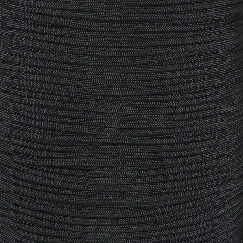West Coast Paracord Foot Hanks and Foot Spools of Black Type III Cord 7 Strand Core 550 Paracord – Black (150 Feet)