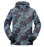 Men's Performance Insulated Ski Jacket with Zip-Off Hood,Binary Matrix,M