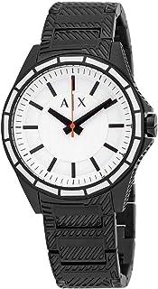 Armani Exchange Men's Drexler Three Hand Black-Tone Stainless Steel Watch AX2625