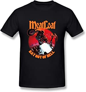 UrsulaA Mens Fashion Meat Loaf Bat Out of Hell T-Shirts Black