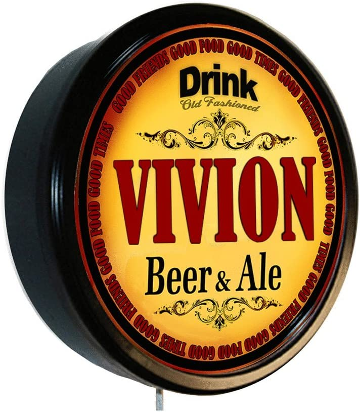 Goldenoldiesclocks VIVION Beer Attention brand and Courier shipping free shipping Ale Cerveza Wall Sign Lighted